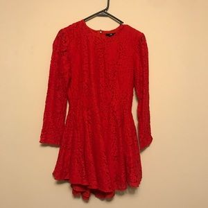 H&M Peplum Red Dress